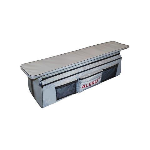 "ALEK Boat Seat Cushion Under Seat Bag with Pockets 34""X9"" Gray"