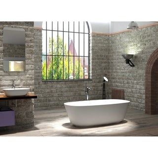 "Hermosa 71"" Solid Surface Freestanding Bathtub"