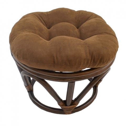 Blazing Needles 18-inch Microsuede Footstool Cushion (Cushion Only)