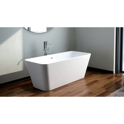 "Venice 65"" Solid Surface Freestanding Bathtub"