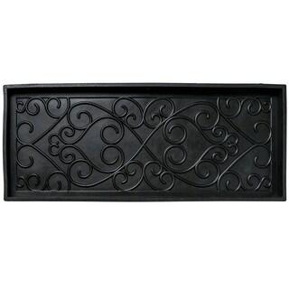 """Unbelievable Mats 13"""" x 33"""" Black Shoe tray"""