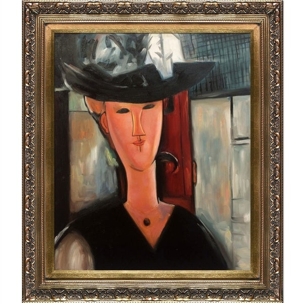 Amedeo Modigliani 'Portrait of Madam Pompadour, 1915' Hand Painted Oil Reproduction