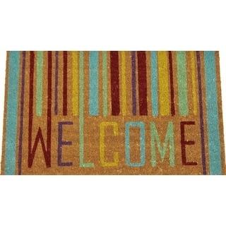 """Unbelievable Mats 18""""x30"""" Colorful Welcome Door Mat"""
