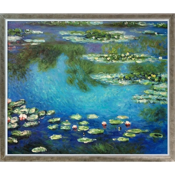 Claude Monet 'Water Lilies' Hand Painted Oil Reproduction