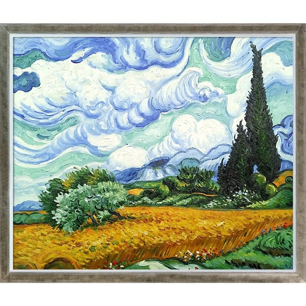 Vincent Van Gogh 'Wheat Field with Cypresses' Hand Painted Oil Reproduction. Opens flyout.