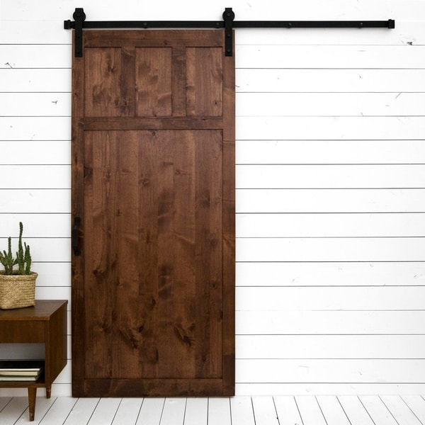 "Craftsman Sliding Barn Door With Hardware (36"" x 84"")"