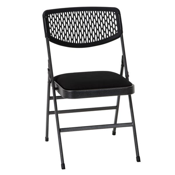 Strange Shop Cosco Commercial Fabric Seat Folding Chair With Mesh Machost Co Dining Chair Design Ideas Machostcouk