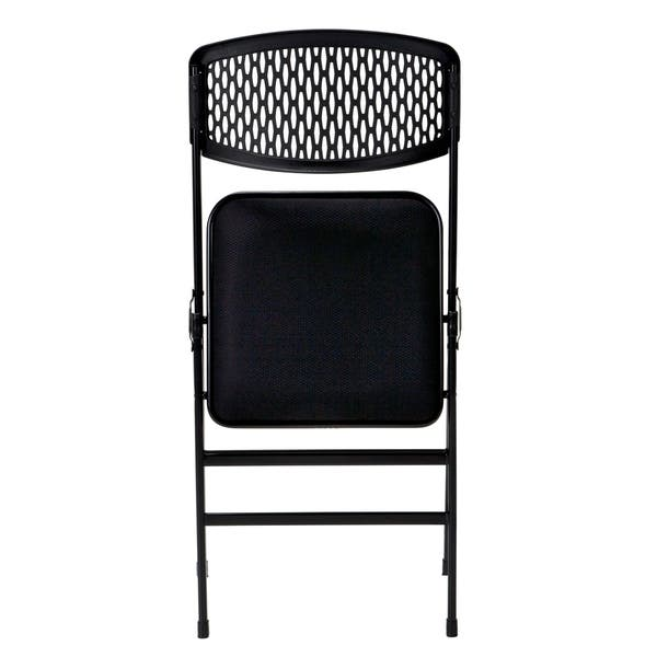 Remarkable Shop Cosco Commercial Fabric Seat Folding Chair With Mesh Machost Co Dining Chair Design Ideas Machostcouk
