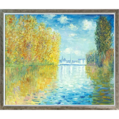 Claude Monet 'Autumn at Argenteuil' Hand Painted Oil Reproduction