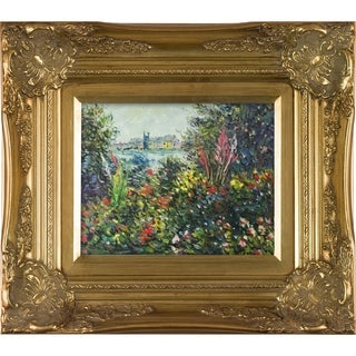 Claude Monet 'Flowers at Vetheuil, 1881' Hand Painted Oil Reproduction