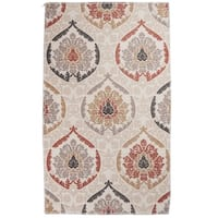 "Unbelievable Mats 20"" x 32"" Woven Polyester Accent Rug - Tan/Beige/Orange - 20"" x 32"""