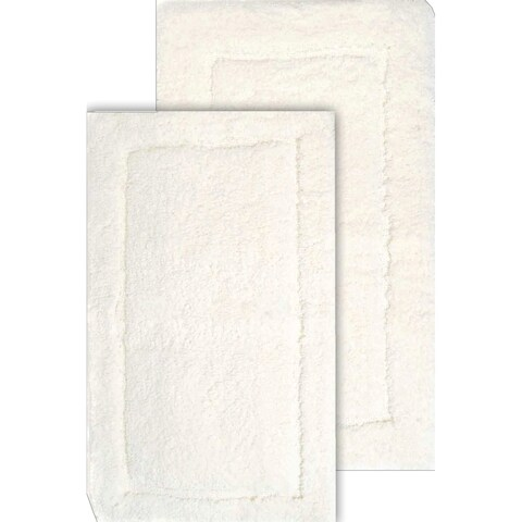Microfiber Spa 2-Piece Bath Rug Set with Bonus Step-out mat