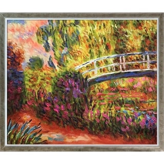 Claude Monet 'The Japanese Bridge' (The Water-Lily Pond, Water Irises) Hand Painted Oil Reproduction