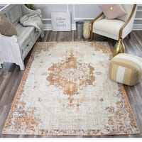 Rugs America Bend Cream/Rust Vintage Contemporary Rug - 8' x 10'