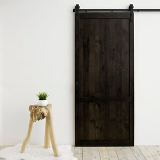 """Country Vintage Sliding Barn Door With Hardware (36"""" x 84"""")"""
