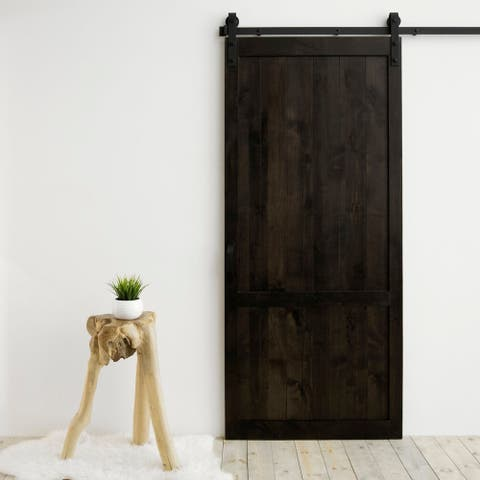 "Country Vintage Sliding Barn Door With Hardware (36"" x 84"")"
