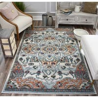 Sela Transitional Ivory & Rust Rug - 9' x 12'