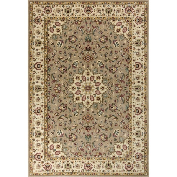 Shop KAS Kingston Beige/Ivory Tabriz Area Rug