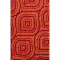 Donny Osmond Home Escape Red Raindrops Rug - 7'6 x 9'6