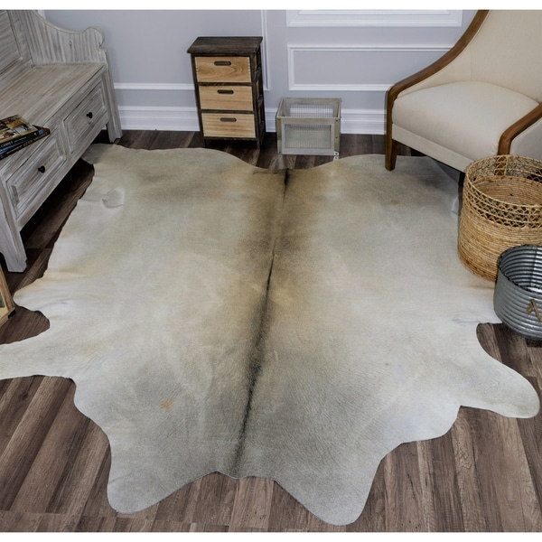 Shop Nash Cowhide Rug Grey Amp Beige 6 X8 Free Shipping Today Overstock 21674743