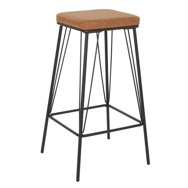 Strick Bolton Eliane 30 Inch Barstool With Gunmetal Base Set Of 2 On Sale Overstock 21674771 Sand