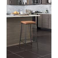 OSP Home Furnishings Mayson 30 inch Barstools with Gunmetal Base, 2 pack