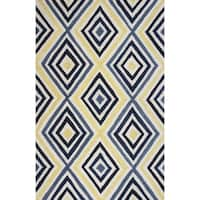 Donny Osmond Home Escape Ivory/Blue Dimensions Rug - 7'6 x 9'6