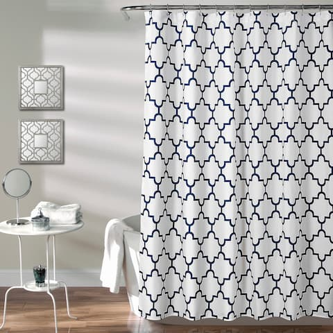 The Curated Nomad Bernardino Trellis Shower Curtain