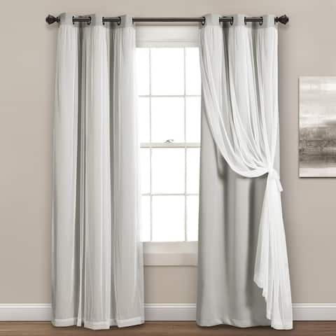 Lush Decor Grommet Sheer Panels with Insulated Blackout Lining