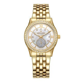 Women's 'Huston' Crystal Embellished Stainless Steel Bracelet Watch 36mm by Timothy Stone