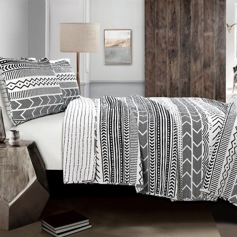 Lush Decor Hygge Geo 3 Piece Quilt