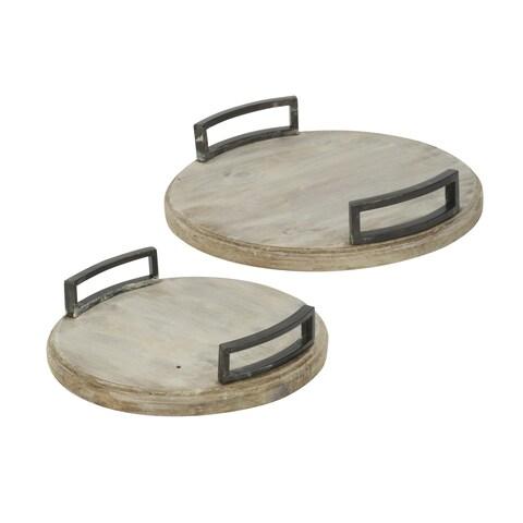 Round Whitewash Trays
