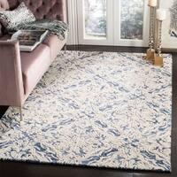 Safavieh Handmade Blossom Modern & Contemporary Blue / Ivory Wool Rug - 5' x 8'