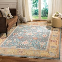 Safavieh Couture Handmade Sultanabad Modern & Contemporary Blue / Gold Wool Rug - 10' x 14'
