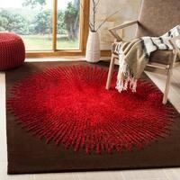 Safavieh Handmade Soho Modern & Contemporary Brown / Red Wool Rug - 5' x 8'