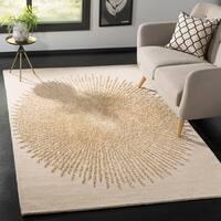 Safavieh Handmade Soho Modern & Contemporary Beige / Beige Wool Rug - 5' x 8'