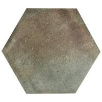 SomerTile 11x12.625-inch Anticato Muschio Hex Porcelain Floor and Wall Tile (15 tiles/11.42 sqft.)