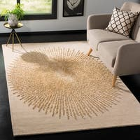 Safavieh Handmade Soho Modern & Contemporary Black / Beige Wool Rug - 5' x 8'