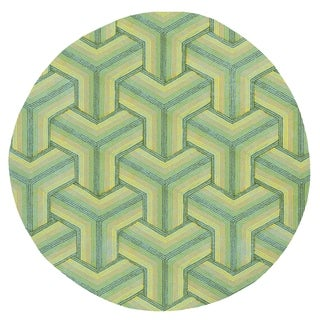 Donny Osmond Home Escape Ocean Connections Round Rug - 7'6