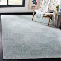 Safavieh Handmade Abstract Modern & Contemporary Blue / Grey Viscose Rug - 6' x 9'