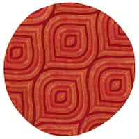 Donny Osmond Home Escape Red Raindrops Round Rug - 7'6