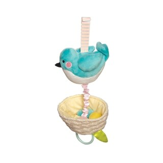 Manhattan Toy Lullaby Bird Pull Musical Crib and Baby Toy