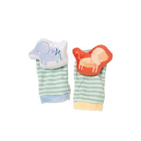Manhattan Toy Safari Baby Wrist Rattle and Foot Finders