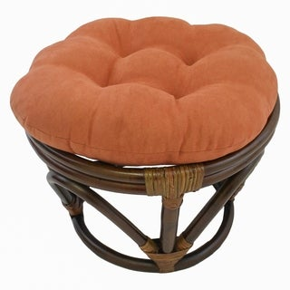 Blazing Needles 18-inch Solid Papasan Foot Stool Cushion