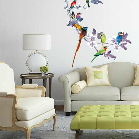 "Birds Nature Animals Full Color Wall Decal Sticker K-1265 FRST Size 20""x20"""