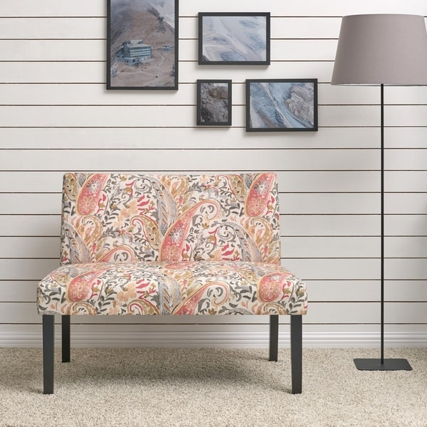 Shop Handy Living Nate Multi Coral Paisley Armless Settee
