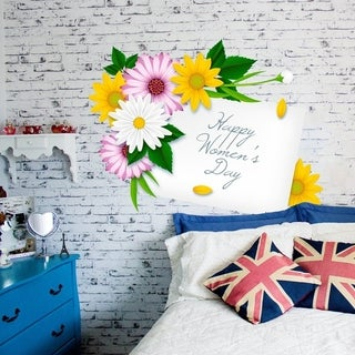 """Woman`S Day Presents Full Color Wall Decal Sticker K-1269 FRST Size 40""""x40"""""""