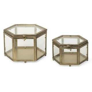 Glass Hexagon Case- Set of 2