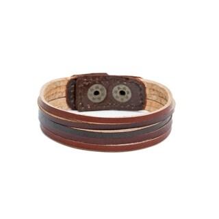 Handmade Bhumi Bands Bracelet - Browns (India)