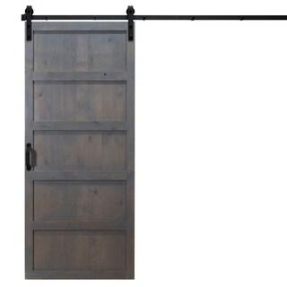 "5-Panel Sliding Barn Door With Hardware (36"" x 84"")"